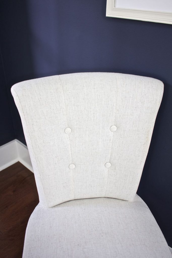 New Dining Room Chairs. Covered buttons