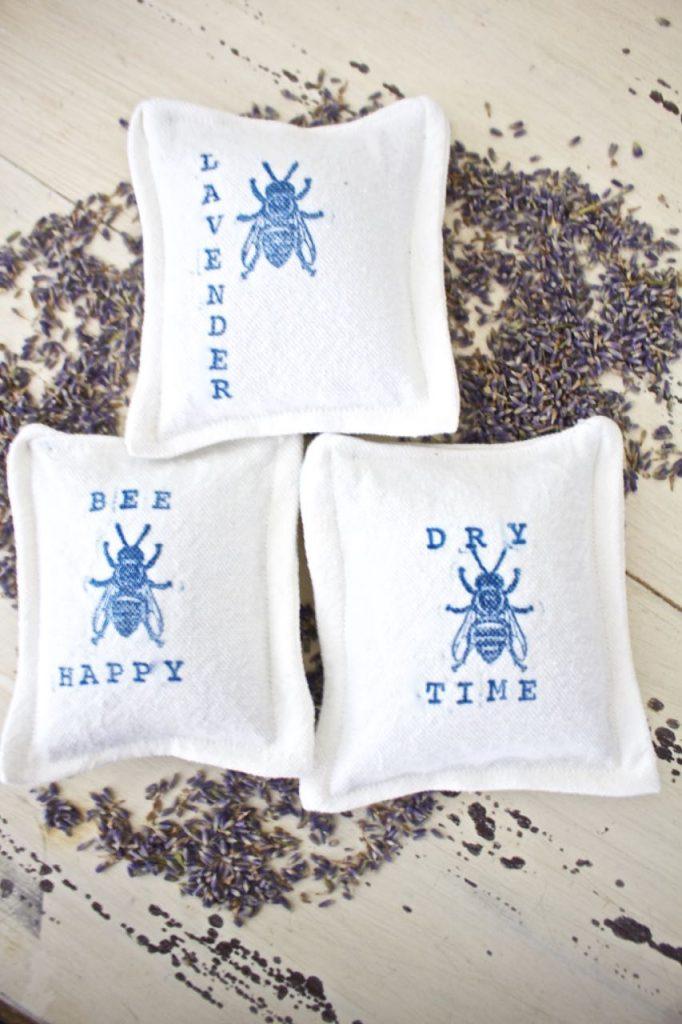 Organic Lavender Dryer Sachets. Toss a sachet in the dryer.