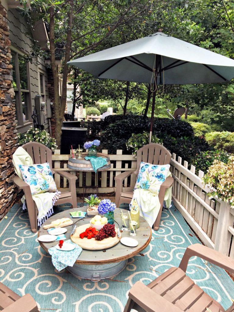 Summer garden and porch tour. Porch view.