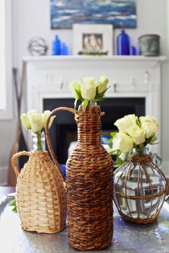 Wicker Demijohn Bottles. Styling your home need not be expensive.