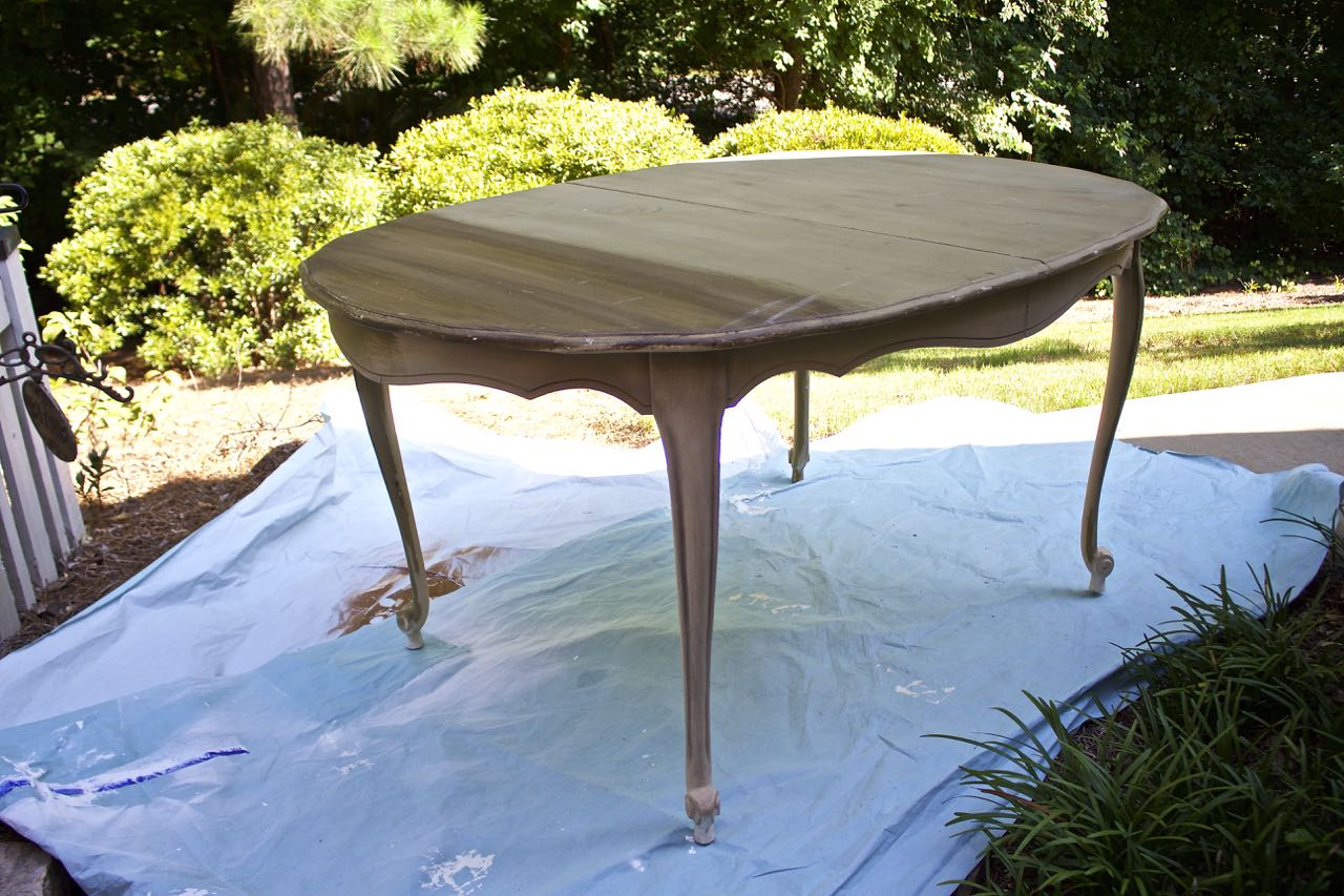 Dining Room Table Makeover. Ready for the makeover.