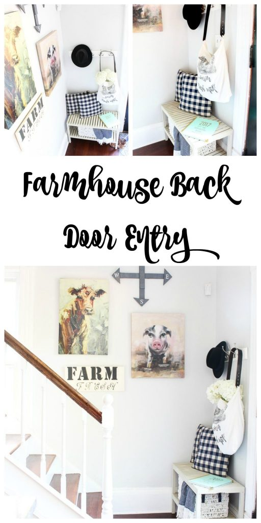 Farmhouse decor for back door entry