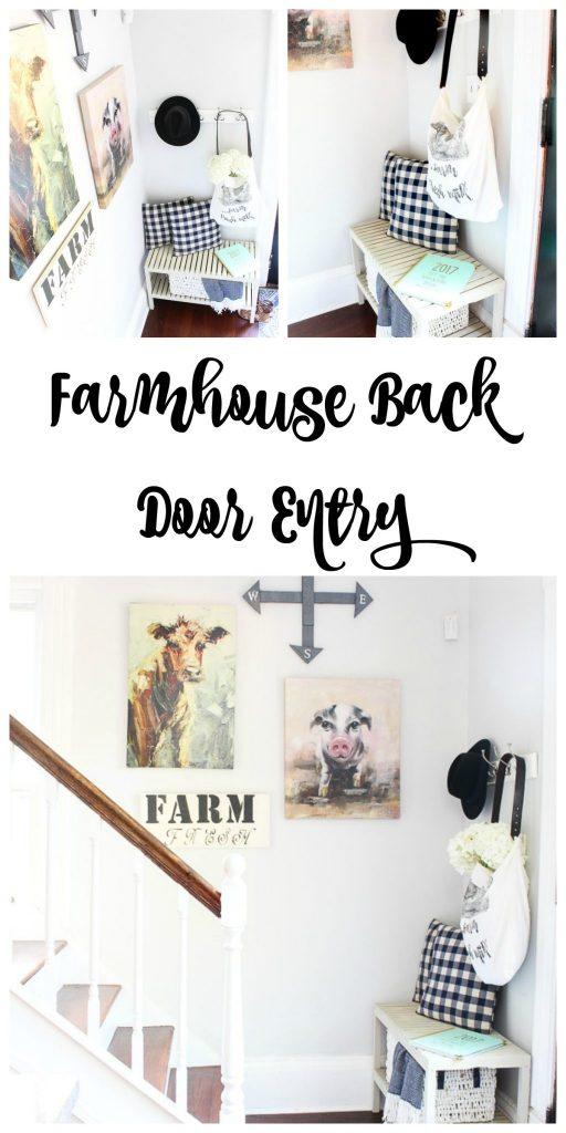 Farmhouse decor for back door entry