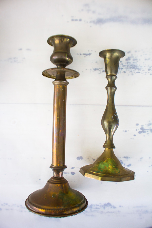 Tarnished brass is easily cleaned with a paste mixutre of baking soda and fresh lemon juice