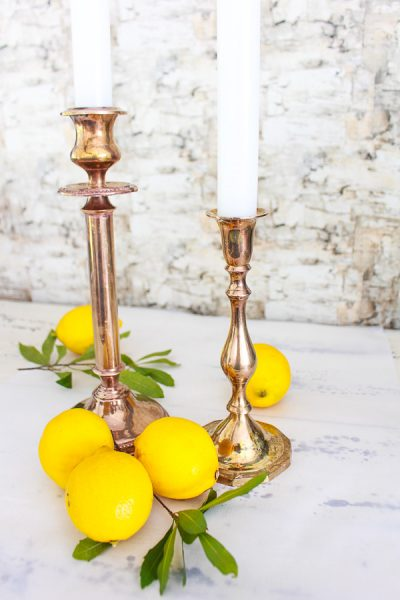 How to Easily Clean Brass and Free Lemon Art Printable