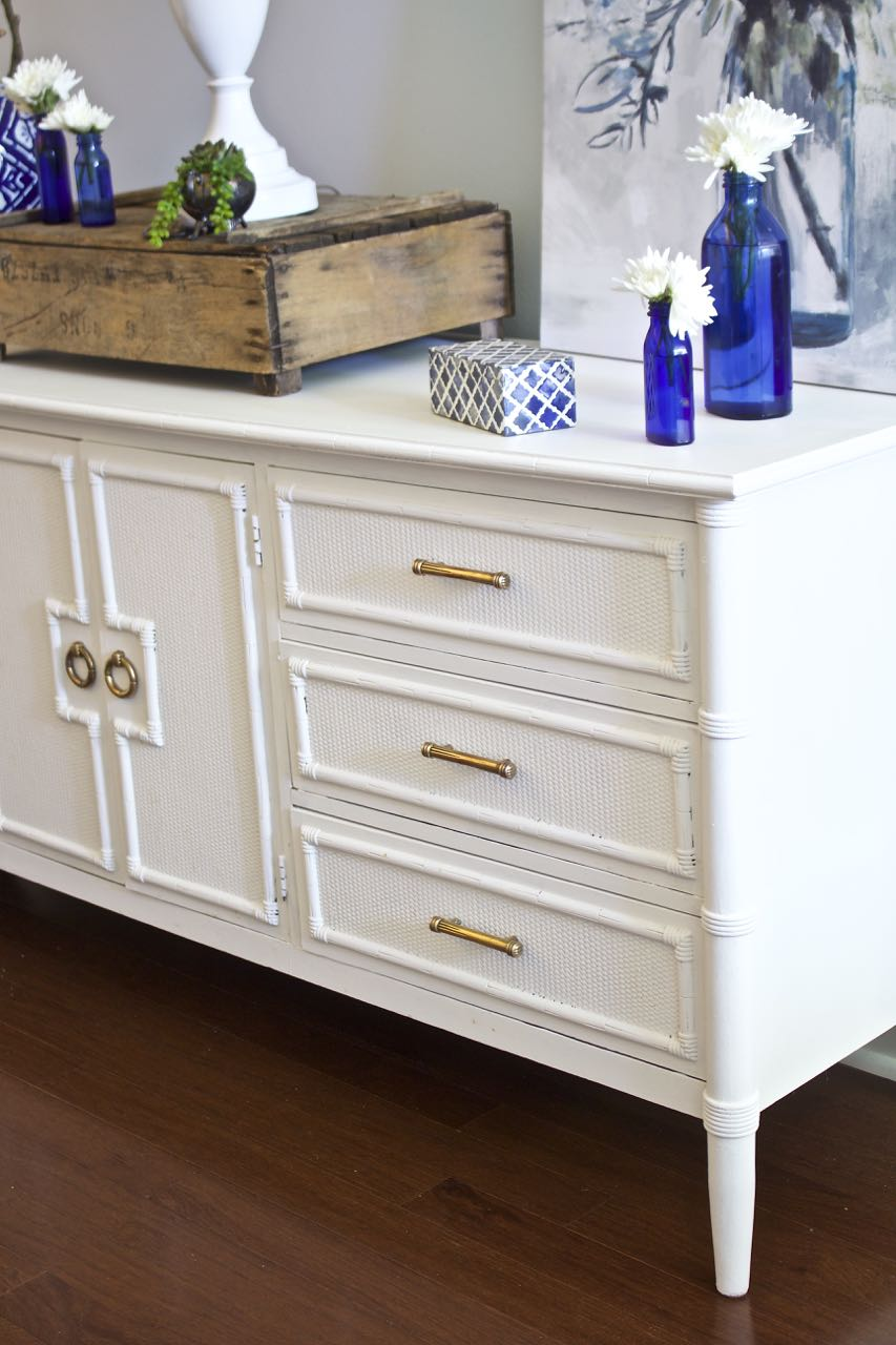 Painted Sideboard Buffet For The Dining Room. White Painted Furniture. Amy  Howard One Step