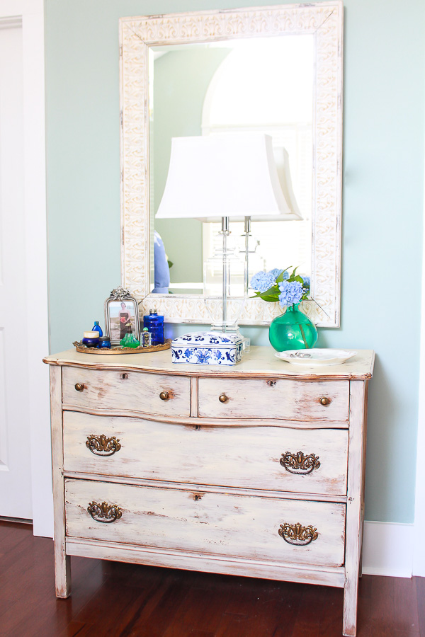 Master Bedroom Dresser and Mirror with vintage touches-1