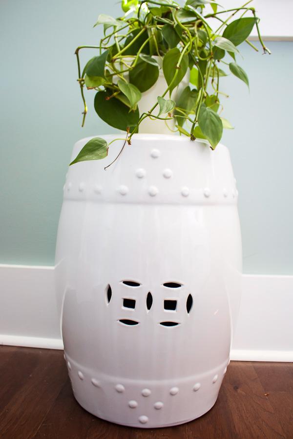 Master Bedroom Garden Ceramic Stool and Plant-1