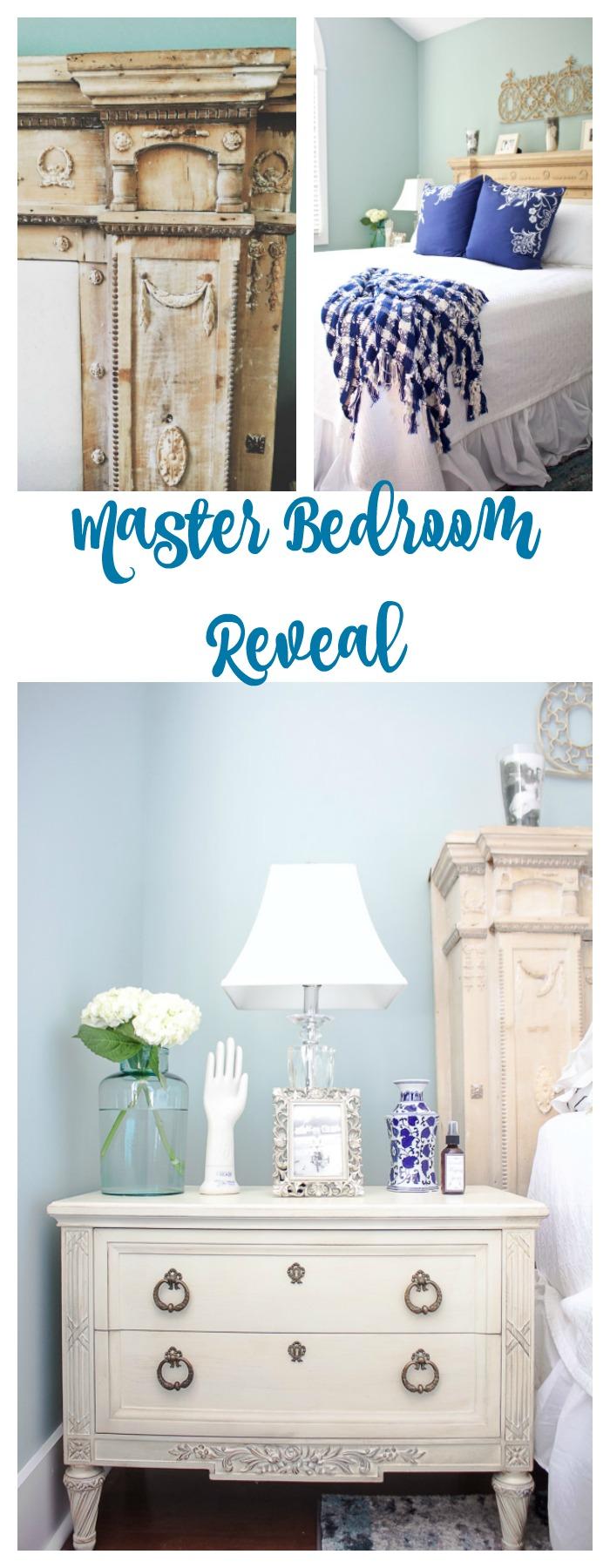 Vintage decor in the master bedroom