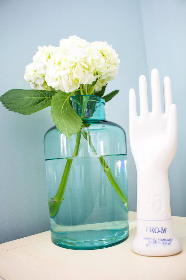 White hydrangeas are a perfect flower for decorating because they last a long time