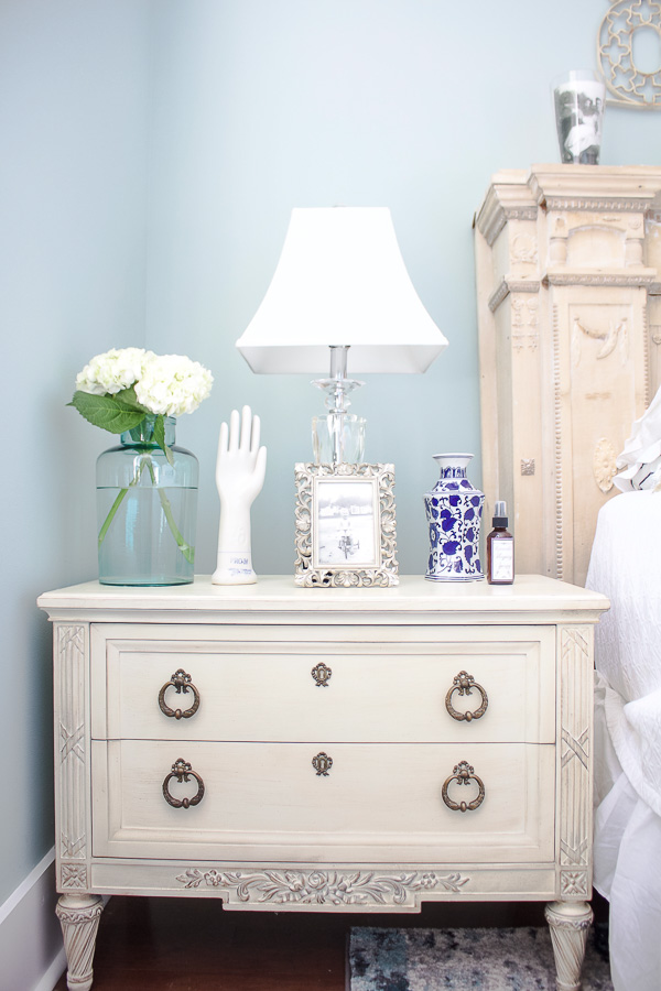 Master Bedroom nightstand with vintage photo-1