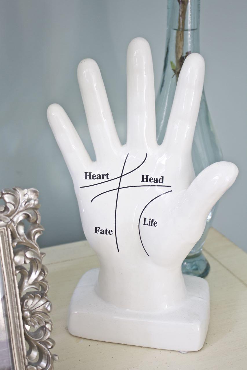 Master bedroom ceramic yoga hand