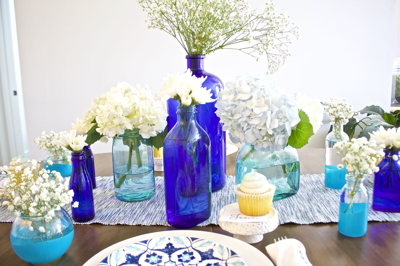 Shades of Blue Summer Tablescape 7