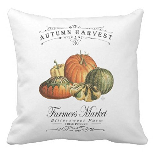 Farmer's Market Autumn pillow cover