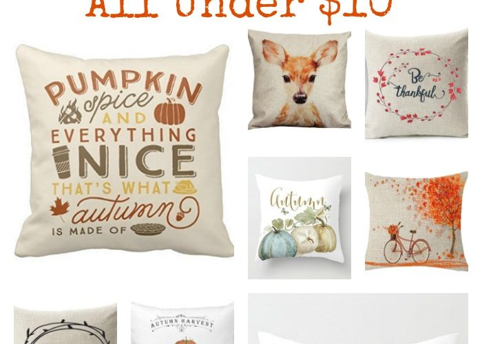 Decorating for Fall with autumn pillow covers