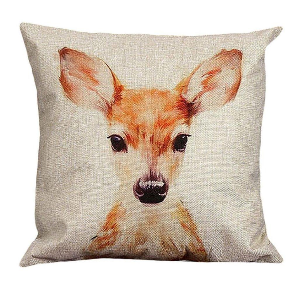 Deer pillow cover for fall