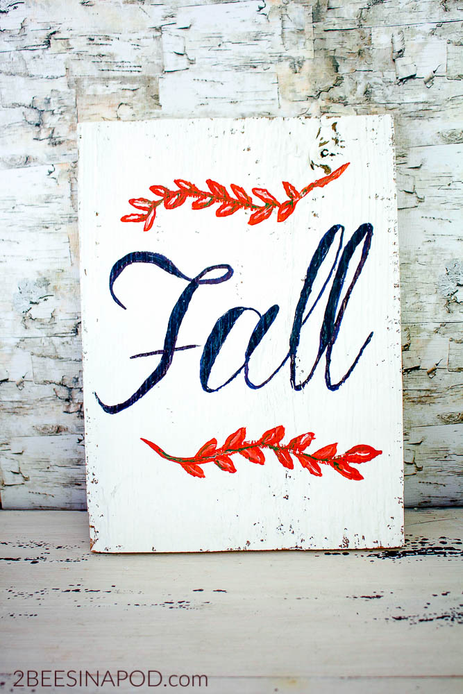 DIY painted sign for fall home decor.