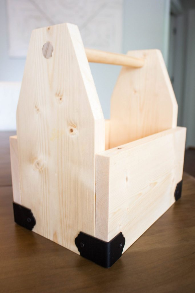 Weathered Wood Farmhouse Caddy - Make New Look Old. raw wood tote.
