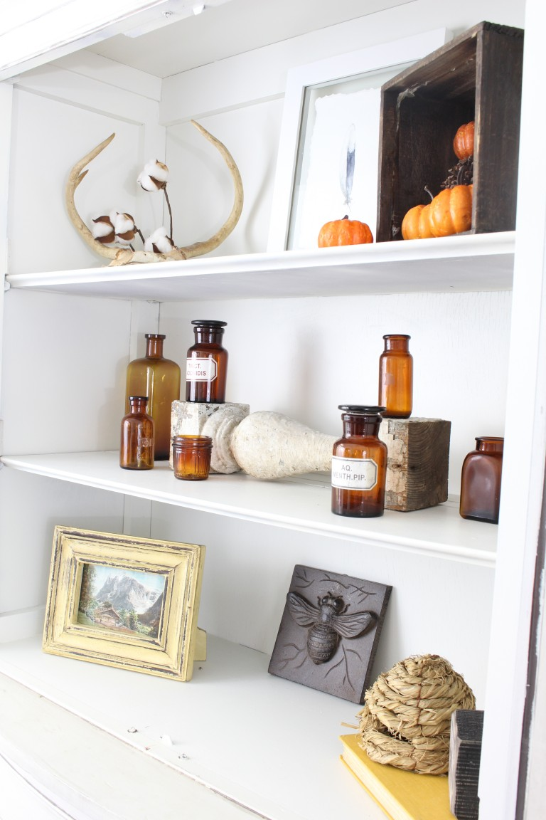 Group Color Glass & 8 Easy Free Fall Decorating Ideas - 2 Bees in a Pod