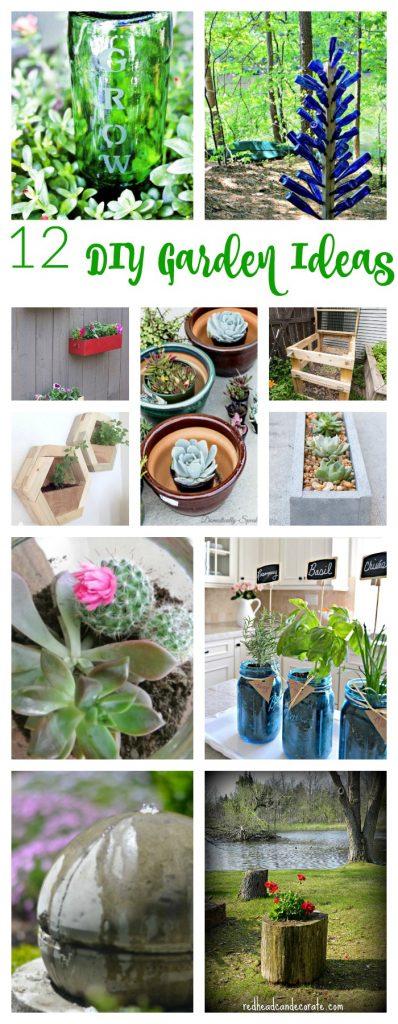 DIY and design bloggers offer creative garden ideas.