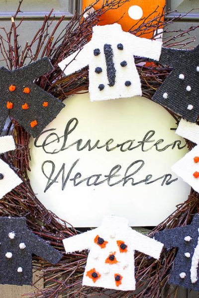 DIY Sweater Weather Fall Wreath