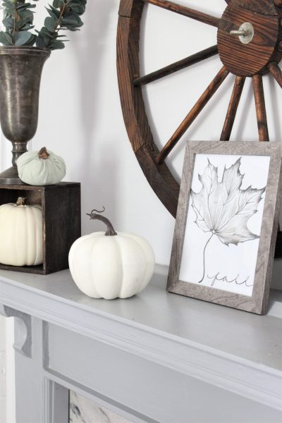 Fall Mantel Decor in Neutrals