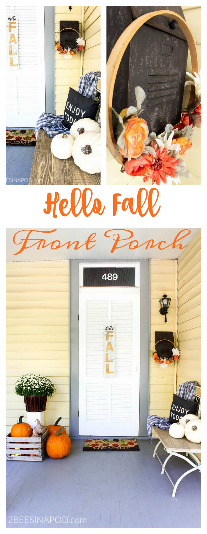 Hello Fall Front Porch