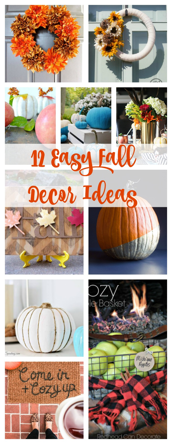 Easy fall decor ideas. Easy ideas for decorating your home for fall.