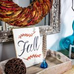 Fall Entryway Decor - Cottage Style