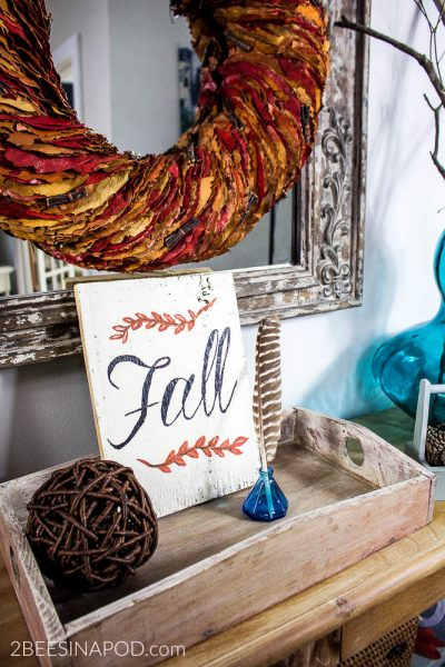 Fall Entryway Decor – Cottage Style