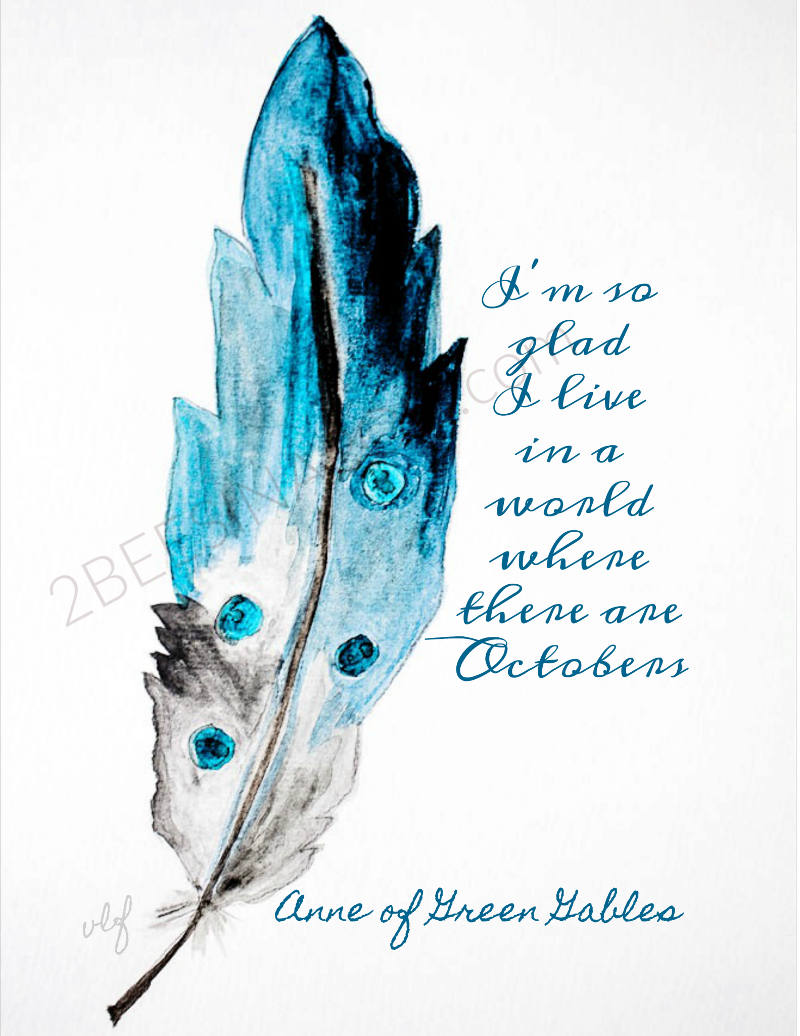 image about Feather Printable identify Watercolor Feather Totally free Printable - 2 Bees inside of a Pod