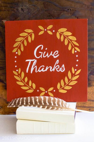 Give Thanks Art – Easy DIY