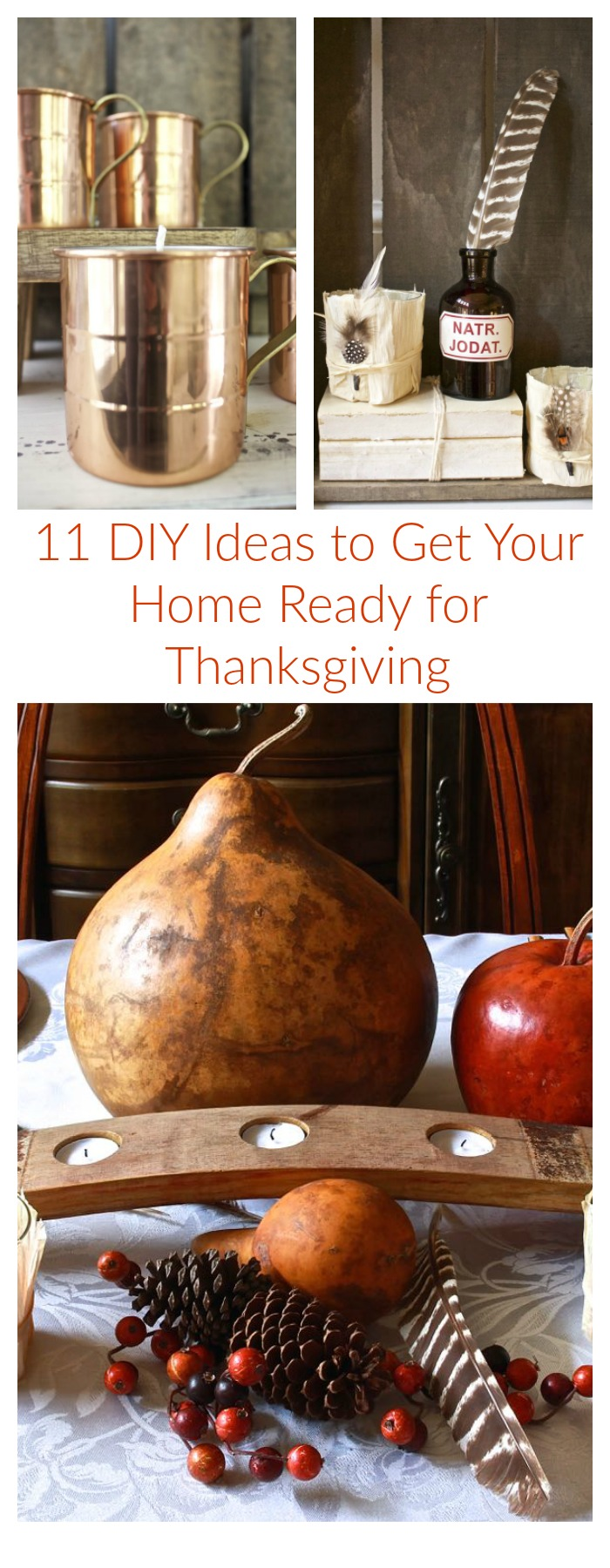 11 DIY Ideas to get your home ready for thanksgiving