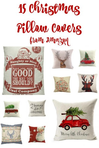 15 Christmas Pillow Covers from Amazon