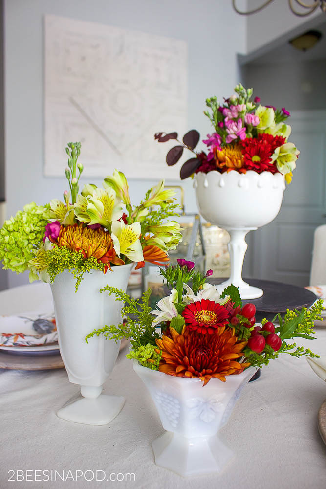 Easy Flower Arrangements with Grocery Store Flowers