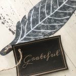 Faux Galvanized Feather Place Cards