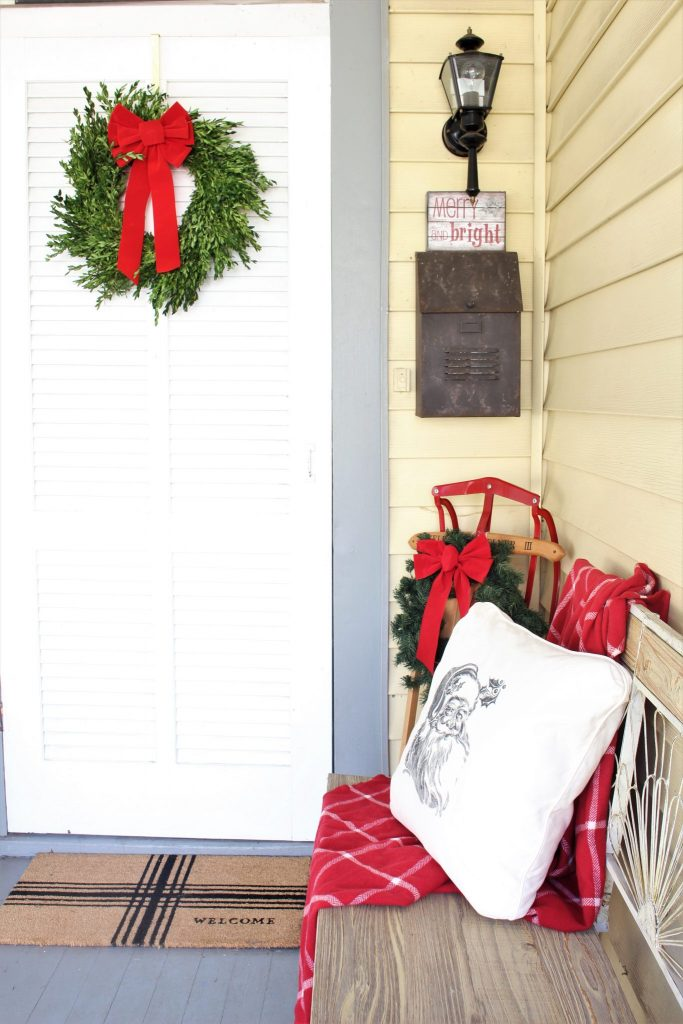 Cozy front porch christmas