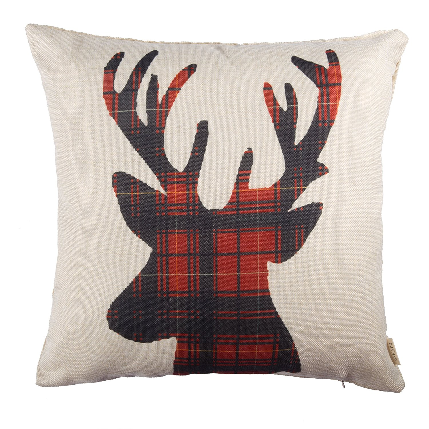 Plaid Reindeer \u2013 Another cute plaid reindeer pillow cover!