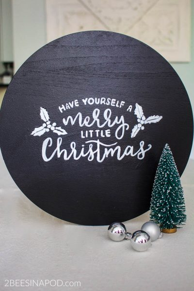 Painted Christmas Sign – Sort Of
