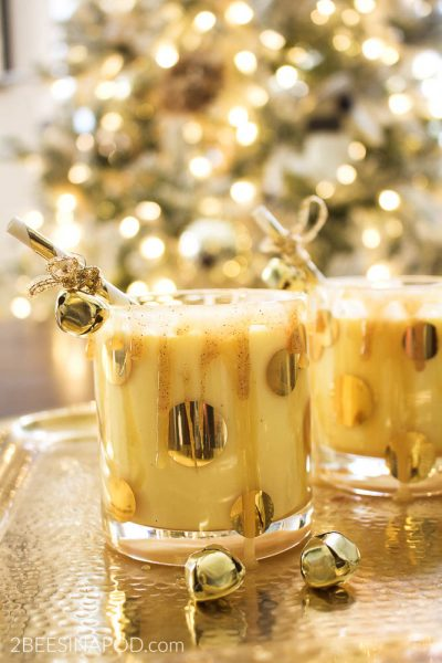 Salted Caramel Eggnog Cocktail – Virtual Holiday Cocktail Party