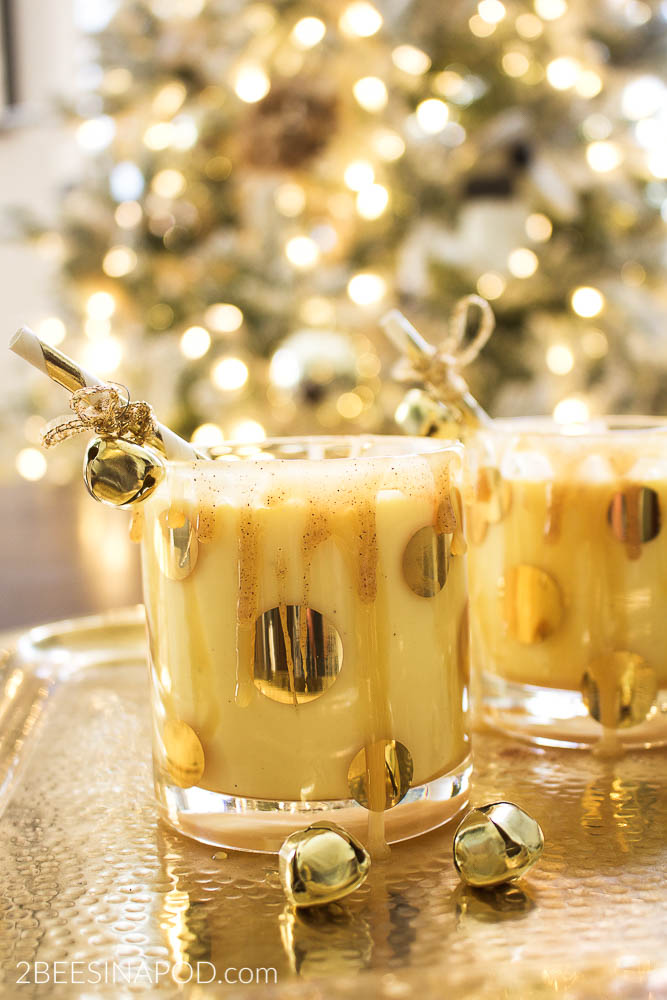 Salted Caramel Eggnog Cocktail