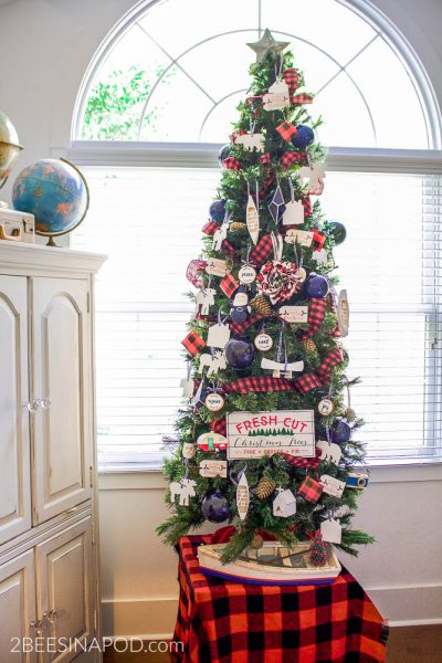 Lake Cottage Christmas Tree and Thrifty Tips