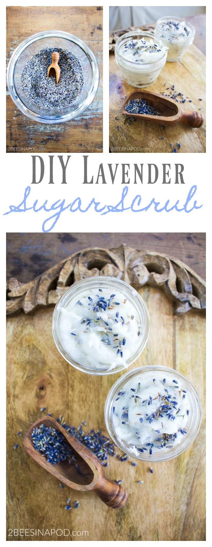 DIY Lavender Sugar Scrub feels great on dry skin
