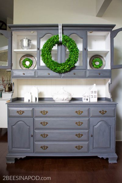 Gray Painted Hutch Makeover That Made Me Cry