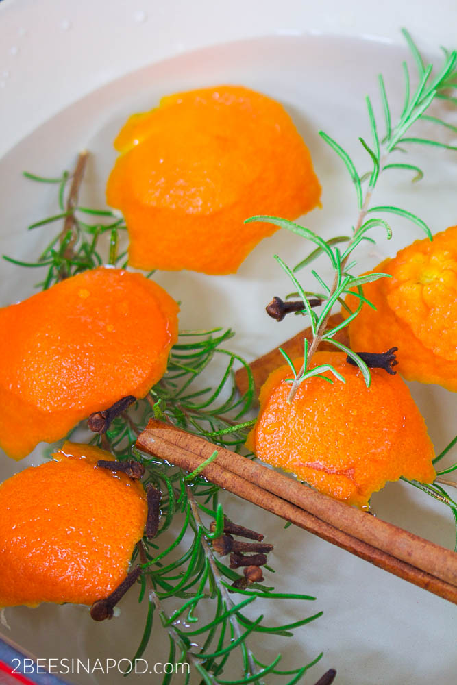 Rosemary and Citrus Orange Spice Simmer Pot - Banish Winter Funk. Fresh orange peels beat the winter blues and make your home smell fabulous.