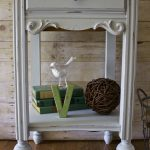 How to Chalk Paint Furniture - Our Best Tips. Side table painted in French Blue Amy Howard One Step paint
