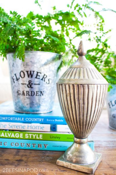 Spring Coffee Table Vignette Thanks to Dollar Tree Inspiration