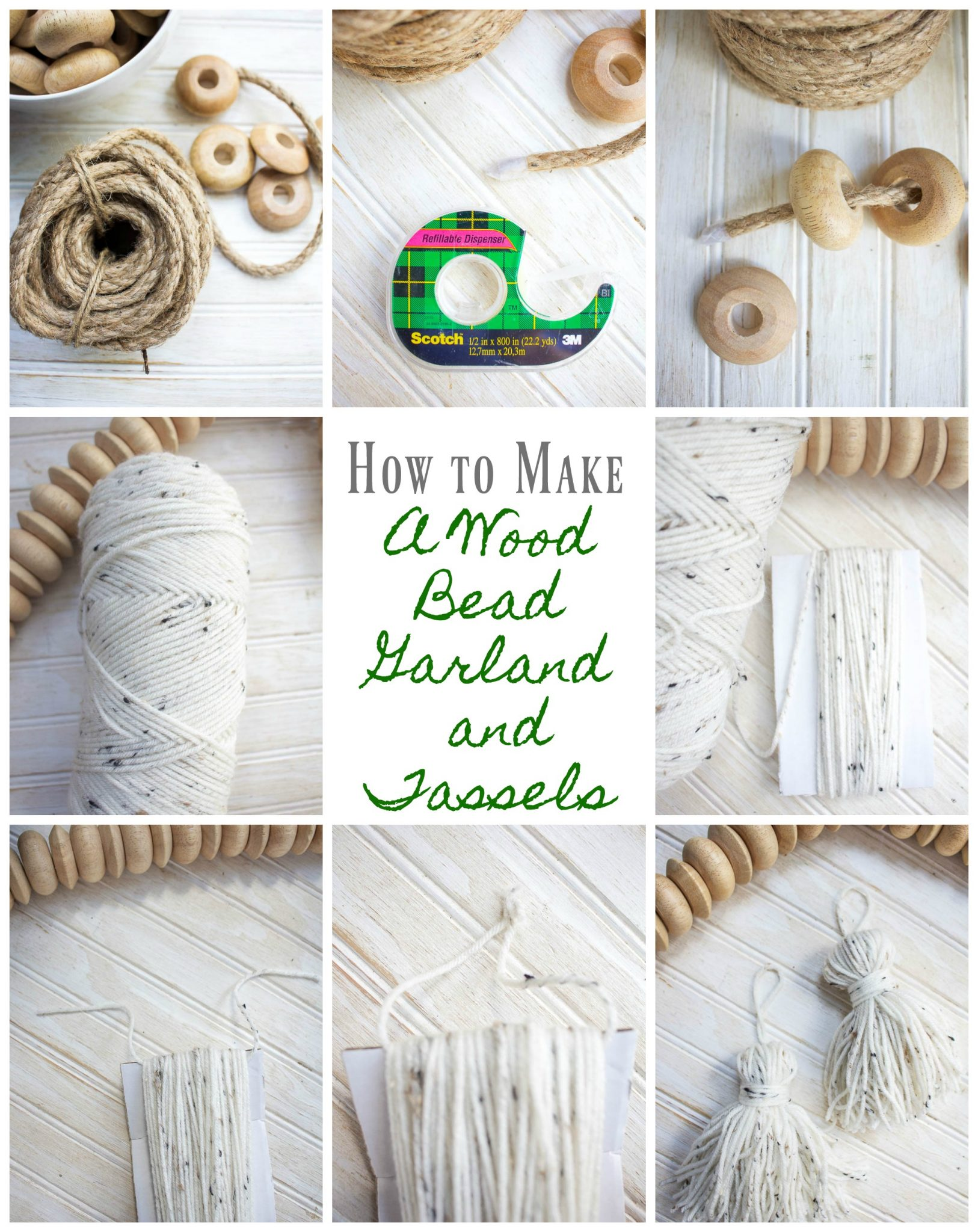 How To Make A Wood Bead Garland With Tassels 2 Bees In A Pod