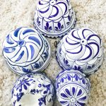 Latest Thrifted Finds and What They Could Be Worth - vintage blue and white Italian Bassamo ceramic molds