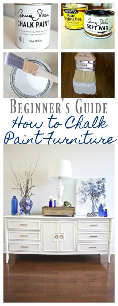 How to Chalk Paint Furniture - Our Best Tips. Best way to chalk paint furniture.